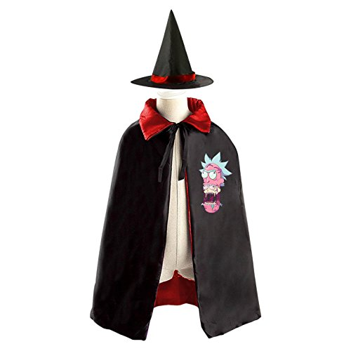 Terrible Head Halloween Costume Cloak Cape Wizard Hat Cosplay Red Kids