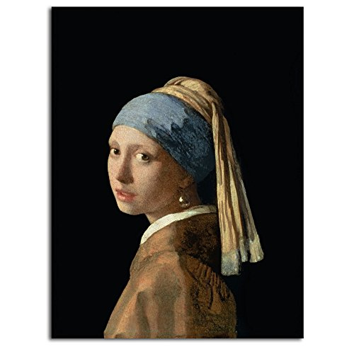 (Trademark Fine Art Girl with a Pearl Earring by Jan Vermeer, Unframed, Rolled Print, 18 by)