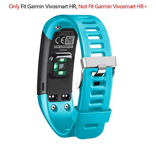 Adjustable Silicone - Band for Garmin Vivosmart HR, Soft Adjustable Silicone Replacement Wrist Watch Band Accessory for Garmin Vivosmart HR (No Tracker, Replacement Bands Only) (Blue)