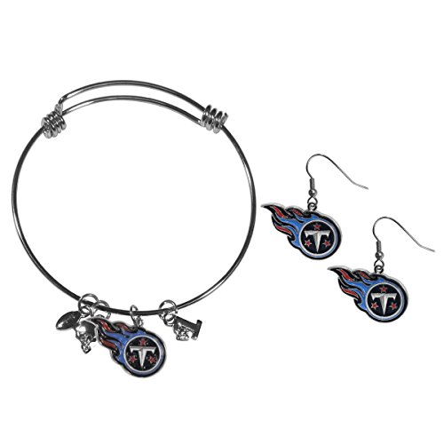 Siskiyou NFL Tennessee Titans Dangle Earrings & Charm Bangle Bracelet -