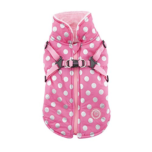 Pinkaholic New York Miss Dotty Winter Fleece Vest, Small, Pink by Pinkaholic New York