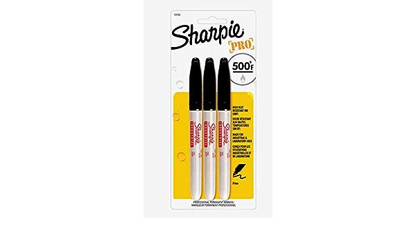Sharpie PRO Black FINE TIP 3pk PERMANENT MARKER High Heat 500° Non-Toxic 13763PP