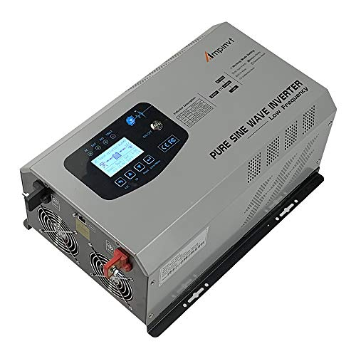 - 1500W Peak 4500W Pure Sine Wave Power Inverter DC 12V to AC 110V Converter with Battery AC Charger LCD Display,Ups Low Frequency Home Use Solar Inverter for Lithium, Sealed, Gel, and Flooded