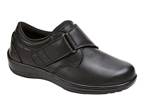 Orthofeet Arcadia Comfort Extra Extra Wide Orthopedic Diabetic Walking Womens Shoes Black Leather 12 XXW US
