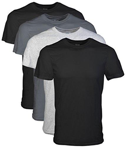 Gildan Men's Crew T-Shirts, Black, XX-Large 4 Pack