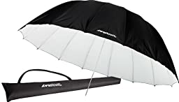 Westcott 4634 7-Feet White with Black Cover Parabolic Umbrella
