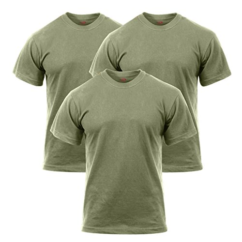 Rothco 3 Pack Military T-Shirt, L Olive Drab