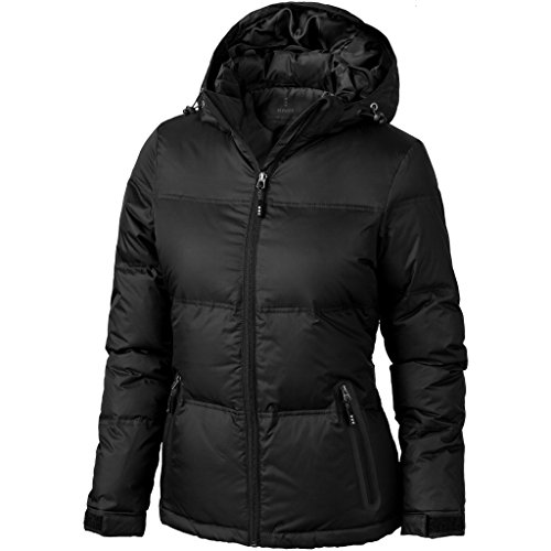 Womens Ladies Jacket Caledon Solid Black Down Elevate wdSP1xfq6P