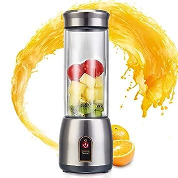 XIAOQING Exprimidor de Uso doméstico - Dormitorio automático Totalmente automático Mini Fruta y verdura de Acero Inoxidable Fácil de Llevar para Batidos y ...