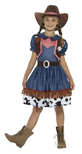 Smiffy's Texan Cowgirl Girls Fancy Dress Costume Size Blue -