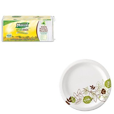 KITDXEUX9WSPKMRC6506 - Value Kit - Marcal 100% Premium Recycled Luncheon Napkins (MRC6506) and Dixie Pathways Mediumweight Paper Plates (DXEUX9WSPK) by Marcal