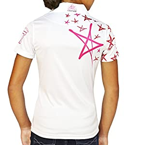 Kissi Couture Little Girls Golf Stars Polo Shirt