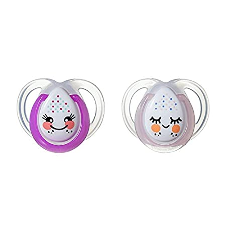 Tommee Tippee 18-36 Months Closer to Nature Night Time 2 Orthodontic Soothers 108971853