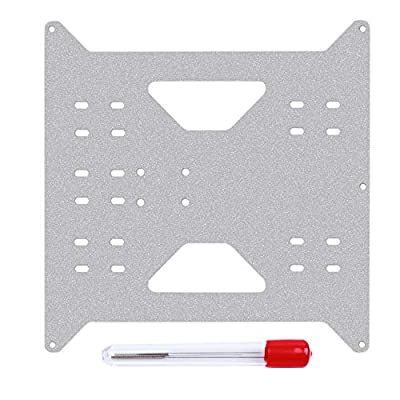 Li-SUN Aluminum Y Carriage Plate Upgrade for Wanhao Duplicator i3 and Monoprice Maker Select V1 V2 V2.1 Plus 3D Printers with Nozzle Cleaning Needles