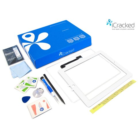 iCracked iPad 3 Screen Replacement Kit (White)