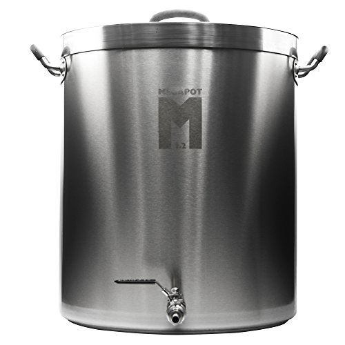 Northern Brewer - Megapot 1.2 Homebrew Stainless Steel Brew Kettle Stock Pot For Beer Brewing (Kettle with a Valve, 15 Gallon/60 (Boilermaker Brew Pot)