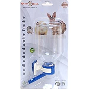 Choco Nose H128 Patented No Drip Small Animal Water Bottle. Best Water Bottle for Small Pet/ Bunny/ Ferret/ Hamster/ Critter. BPA Free. 11.2 Oz. Nozzle Diameter: 10mm (Blue)