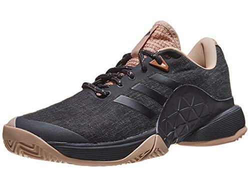 adidas Women's Barricade 2018 Ltd Tennis Shoe, Black/Ash Pearl/Black, 9 M US