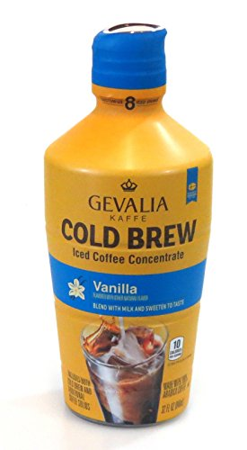 Gevalia Kaffe Cold Brew Iced Coffee Concentrate 32oz Bottle (Vanilla)