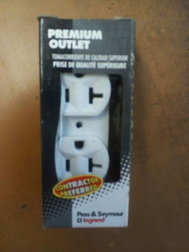 Pass & Seymour White COMMERCIAL Duplex Receptacle Outlet 20A BR20-W Boxed
