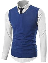 b71d4cad1b55 Mens Casual Slim Fit Knit Vest Sweater