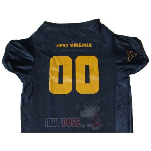West Virginia NCAA Dog Jersey Extra Large