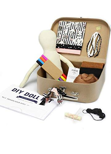 Doll Making Kit - DIY Make your Own Doll Sewing Kit Craft with Bonus 3 outfits and accessories by Dumye