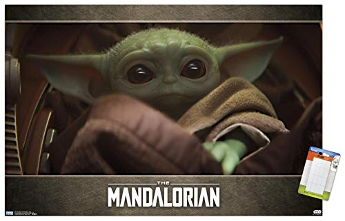 Trends International Star Wars: The Mandalorian-Eyes (Baby Yoda) Mount Wall Poster, 14.725