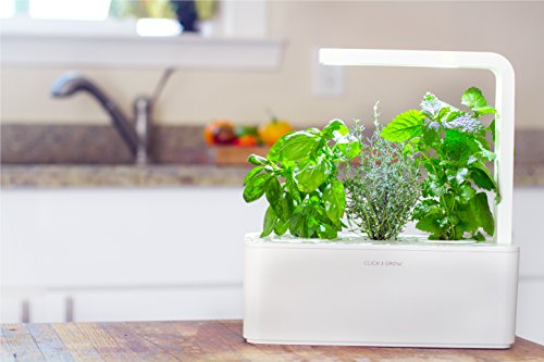 Click & Grow Indoor Smart Herb Garden kit with 3 Basil Cartridges ...