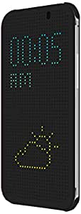 HTC Dot View Case for HTC One (M8) - Retail Packaging - Warm Black/Dark Gray