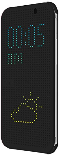 Price comparison product image HTC Dot View Case for HTC One (M8) - Retail Packaging - Warm Black/Dark Gray