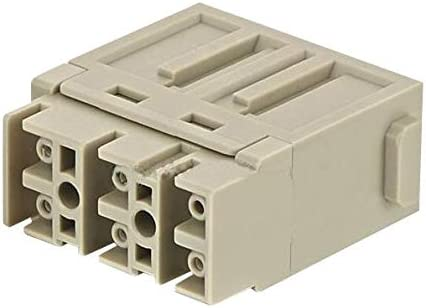 Heavy Duty Connector Receptacle 09140064711 6 Contacts Han-Modular Series Insert