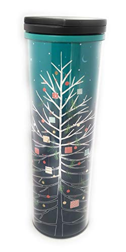 Starbucks 2018 Turquoise/Blue Whimsical Tree Acrylic Cup