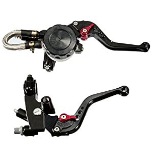 """1 Pair Universal Motorcycle 7/8"""" Front Brake Clutch CNC Master Cylinder Clutch Fluid Reservoir Levers from SCLMOTOR CO"""
