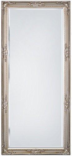 "SBC Decor Maissance Traditional Full Length Mirror, 19"" x 60"" x 1.5"", Silver Satin"