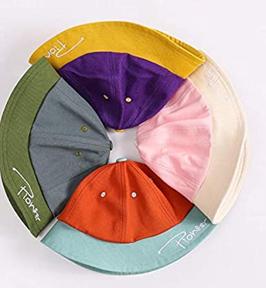ACVIP Toddler Girls Neon Colored Sun Block Bucket Hat