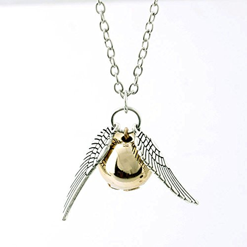 Gold Snitch Necklace Silver Wings Of The Harry Potter/ /Quidditch Hogwarts Gryffindor High Quality SAGA
