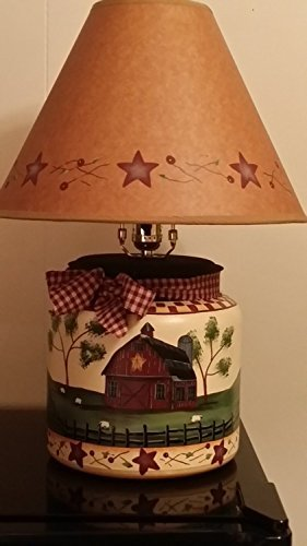 Primitive Country Decor Farmhouse Style Table Lamp