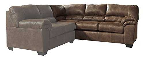 (Ashley Furniture Signature Design - Bladen Contemporary Right Arm Facing Sofa - Sectional Component ONLY - Coffee)