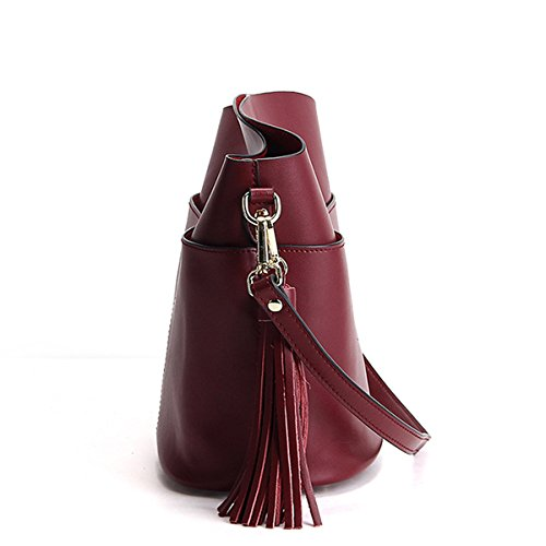 bandoulière main en à M169 épaule portés Sac femme LF Bordeaux Sac cuir Sac DISSA fashion OHASYn