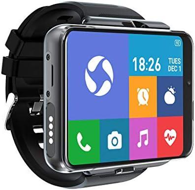 [4U.com] 4G/LTE Smart Watch Phone Android 9.0 4-Core CPU 4GB+64GB 2.88″HD Screen 13MP+5MP Dual Camera 2300mAh IP65 Waterproof WiFi Bluetooth GPS Sports Heart Rate