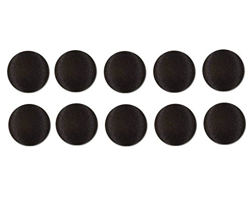 Black Buttons Satin - 10, 1/2