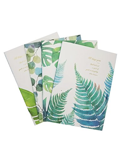 What's Fun B5 Theme designed Softcover College Ruled Notebook/Composition/Journals/Dairy/Office Note Books Set of 4 Per Pack (All Things Grow) College Notebook