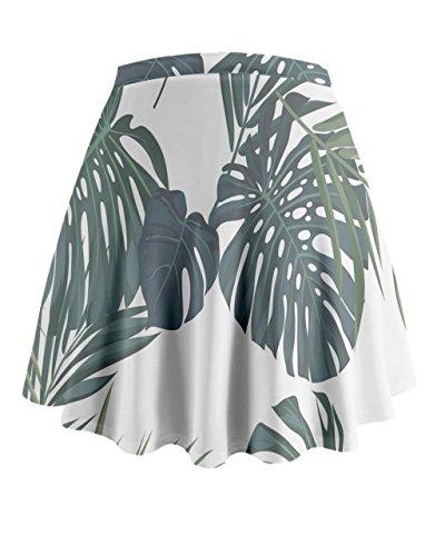 Cowcow Mujer exótica Hawaii Flores Mini Flare falda Palm Tree