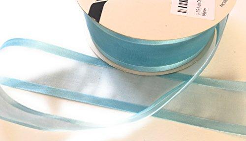Mist Ribbon Blue (1-1/2-Inch Organza with Satin Edge Ribbon -1 1/2
