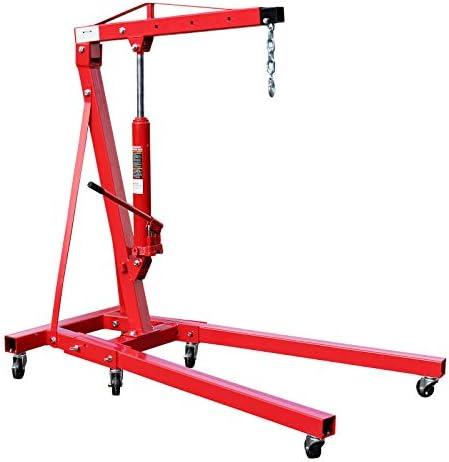 Werkstattkran klappbar für Lasten bis 1000 kg Hubarm 960-1240 mm Lastkran Motorkran Motorheber