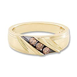 1/4 CTTW Men's Luxe Diamond Ring With 10K Gold