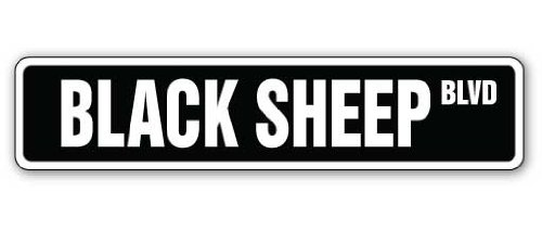 BLACK SHEEP Street Sign family hip hop duo funny gift