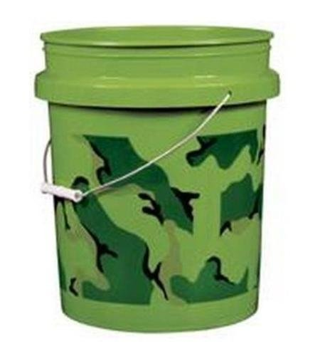 Camouflage Pail, Forest Green by Encore Plastics