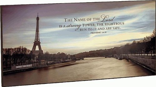 The Name Of The Lord Is A Strong Tower Proverbs 18:10 Mounted Wall Art 18 X 36